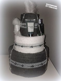 Handdoekentaart; 6 handdoeken, douchegel, bodylotion