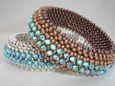 Metalsmith Match Friday, Sept.6, 11-6 $85 plus materials A Shelley Nybakke right angle weave cuff www.crystalbeadbazaar.com to sign up