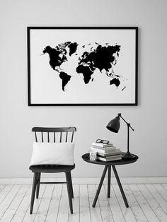 World Map Wall Art Large World Map World Map Poster von printabold                                                                                                                                                                                 More