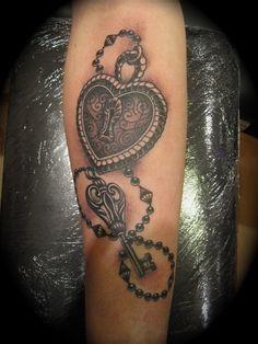 Fotos de tatuagens de fechaduras e cadeados   Tinta na Pele