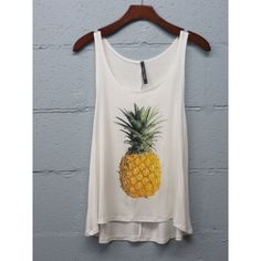 -NEW ARRIVAL- Ivory Pineapple Tank 95% Rayon 5% Spandex. PRICR IS FIRM UNLESS BUNDLED. likeNarly Tops Tank Tops