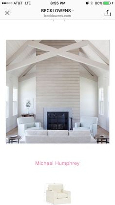 I like the lines here with the symmetry with the vaulted ceilings and interesting beams. Think about for family room.