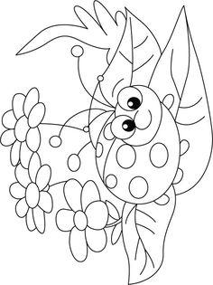 Embroidery Patterns Ladybug on Flower rug coloring pages Bug Coloring Pages, Ladybug Coloring Page, Colouring Pics, Printable Coloring Pages, Coloring Pages For Kids, Coloring Sheets, Coloring Books, Kids Coloring, Digi Stamps