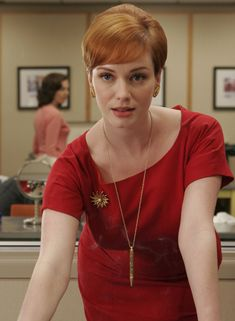 Christina Rene Hendricks -Hollywood Auburn Actress - Drive (2011) -Famous as Joan Holloway in series Mad Men - The sexiest woman in the world