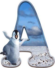 Alfabeto de Happy Feet bailando. | Oh my Alfabetos!