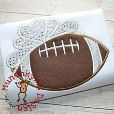Football Tiara Applique - 3 Sizes! | What's New | Machine Embroidery Designs | SWAKembroidery.com Munchkyms Design