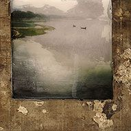 odysee ~ mixed media on driftwood ~ by amélie desjardins