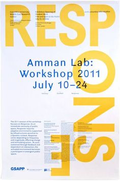 Studio X Amman Workshop 2011 Poster by Rumors. - colectivofuturo Studio X Amman Workshop 2011 Poster by Rumors Studio Poster Fonts, Type Posters, Typographic Poster, Poster Layout, Graphic Design Posters, Print Layout, Graphic Design Typography, Graphic Design Inspiration, Layout Book