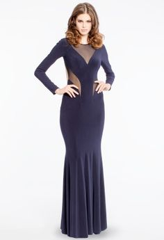 Long Sleeve Dress with Illusion Inserts