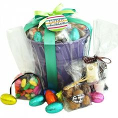 Enjoy some delicious milk chocolate easter eggs in this beautiful gifts hampers and flowers delivered throughout south africa negle Choice Image