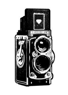 old timey camera
