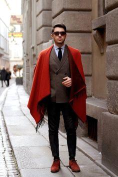 Filippo Fiora - mens cape coat