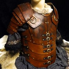 Legio Leather Body Armour with less etchings & blacked out fixing and fittings