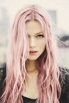 Pretty Pink hair. If I knew I could get that exact shade, I'd be tempted to try it.