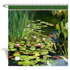 Water Lilies And Koi Pond Painting by Elaine Plesser Pond Painting, Lily Painting, Garden Painting, Watercolor Landscape, Watercolor Flowers, Carpe Koi, Lotus Pond, Pond Life, Lily Pond