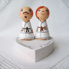 Personalized custom wedding party kokeshi funny cake topper fighter karate kimono costume sport fan groom couple bald doll keepsake heirloom custom personalized favor favour anniversary gift mr and mrs toppers wedding figurines bridesmaid groomsmen cake decoration dog cat pets dolls cute kokeshi topper top hat kawaii peg dolls topper happy kawaii topper