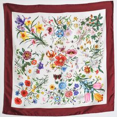 Gucci Silk Flora Scarf, $480, now featured on Fab.