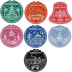 7 Sticker Collection — It's a Magical Adventure Disney Diy, Disney Crafts, Disney Dream, Disney Style, Disney Love, Disney Magic, Disney Vacations, Disney Trips, Disney Parks