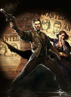 Booker DeWitt & Elizabeth - Pictures & Characters Art - BioShock Infinite