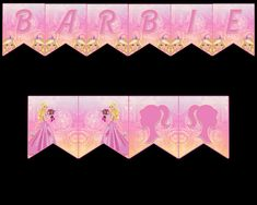 Barbie Banner Party Printable Party Printables, Your Design, Banners, Vibrant Colors, Card Stock, Barbie, Tapestry, Lettering, Hanging Tapestry