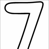 Numbers Coloring Page - numbers 7
