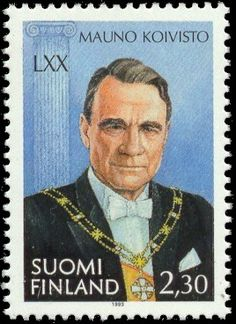 Stamp: Koivisto, Mauno president of state (Finland) Birth Day of Mauno Koivisto) Mi:FI 1224 70th Birthday, Helsinki, Postage Stamps, Presidents, Nostalgia, Poster, Life, Postcards, Vintage