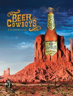 "Anúncio ""Beer for cowboys."""
