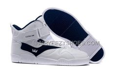 5f77aff49b37 Supra Bleeker White Navy Men s Shoes