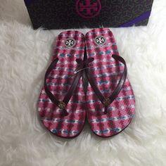 Tory Burch Flip Flop Sandals Tory Burch flip flops. Rubber sole. Cabernet color. Price firm. Tory Burch Shoes Sandals