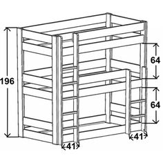 Discover the bunk bed Dominique with its 3 levels, allowing three bunk beds in one bed !