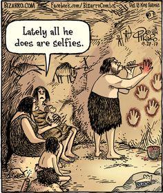 Bizarro on prehistoric selfies History Cartoon, History Memes, Art History, Memes Humor, Funny Memes, Hilarious, Bizarro Comic, Cartoon Jokes, Funny Cartoons