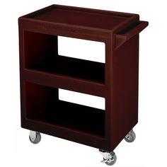 "Cambro BC225131 Dark Brown Three Shelf Service Cart - 28"" x 16"" x 32 1/4"""
