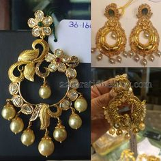 Jewellery Designs: 30 Grams Above Chandbalis