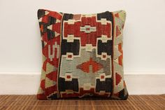 Throw Kilim pillow cover 12 x 12 Vintage kilim by kilimwarehouse, $41.00