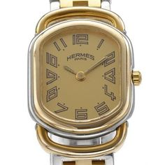 Pre-Owned Hermes Women's RA1.240 Two-tone Gold Plated Stainless Steel Watch | Overstock.com Shopping - The Best Deals on Women's Hermes Watches