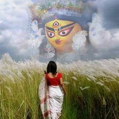 Durga Maa Paintings, Durga Painting, Kali Goddess, Indian Goddess, Durga Puja Wallpaper, Deepika Padukone Wallpaper, Maa Durga Image, Bengali Art, Green Background Video