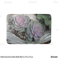 Echeveria Succulent Bath Mat Bath Mats