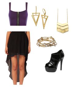 """Night Out"" by taylor-gawron ❤ liked on Polyvore featuring WearAll, WithChic and Majique"