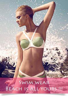 Sexy Olive Green Bandage swimsuit Shape triangle swimwear Push up bikini set Halter Bikini, Push Up Bikini, Bikini Swimwear, Sexy Bikini, Bikini Babes, Triangle Swimwear, Bra Sized Swimsuits, Daily Bikini, Cute Bikinis