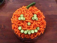 Pumpkin Veggie Tray for Halloween