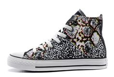 89e2a0400c37de Black Snow Leopard Fancy Noise Chuck Taylor All Star High Tops Womens Girls  Sneakers  F4691  -  58.00   Canada Converse