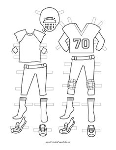 Football player pattern use the printable outline for for Football cutout template