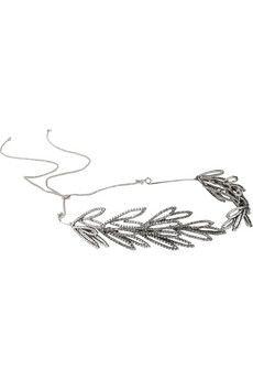 Jennifer Behr Alisha Swarovski crystal-embellished silver-tone headband   NET-A-PORTER