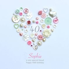 Personalised 40th Birthday Button Artwork