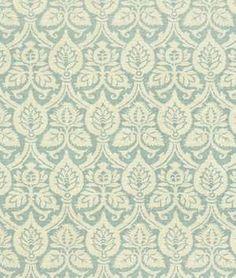Waverly Damask Duet Robins Egg Fabric - $23.85 | onlinefabricstore.net