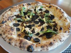 Black Truffle Pizza and 23 carat Gold created by IL DOLCE PIZZERIA in Honor of the Golden Foodie Awards 2012