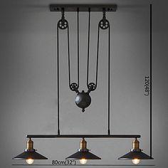 Vintage Mini Style LED Pendant Light Downlight For Living Room Bedroom Dining Room Study Room/Office Warm White 110-120V 220-240V Bulb