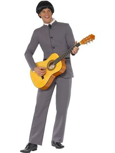 Smiffy's Men's Fab Four Iconic Suit: Looking for the ultimate disguise? Try a Smiffy's Costume on for size! Perfect for carnival, theme parties and Halloween. Package includes: 1 Smiffy's Men's Fab Four Iconic Costume: Jacket and pants, Color: Grey. Cheap Fancy Dress, Pop Star Fancy Dress, 1960s Costumes, Adult Costumes, Halloween Costumes, Men's Costumes, Clever Costumes, Halloween Ideas, George Harrison
