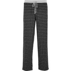 DKNY Printed stretch-modal jersey pajama pants ($43) ❤ liked on Polyvore featuring intimates, sleepwear, pajamas, black, dkny, pj pants, dkny sleepwear and dkny pajamas