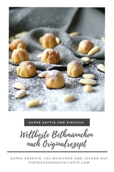 Original Frankfurter Bethmännchen - cinnamon biscuit and apple tart - Bethmännchen are a Frankfurt specialty made from marzipan – the original recipe with rose water - Mary Berry, Fun Desserts, Dessert Recipes, Marzipan, Cinnamon Biscuits, Beautiful Soup, Just Bake, Cheesecake, Original Recipe